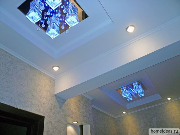 потолок с балкой посередине фото