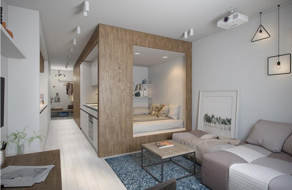 Дизайн комнаты 40 метров