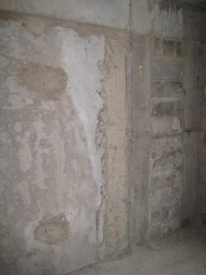 Стена маленькой комнаты - Разный уровень у стены и балки с колонной - IMG_0004.JPG