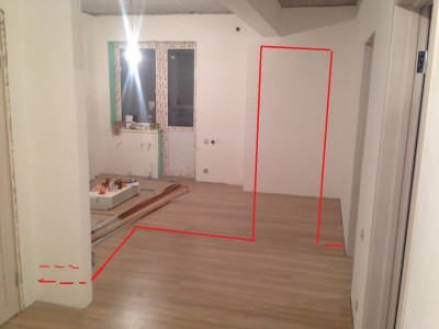 где, пунктиры, я нарастил стенку до 70 см под холодильник Вы можете от городить кухню примерно так - 2269dbb8-7f9a-47d8-ab35-51a2936331e8.jpg