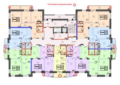 Места установки кондиционеров: снаружи или внутри - Установка кондиционеров.png