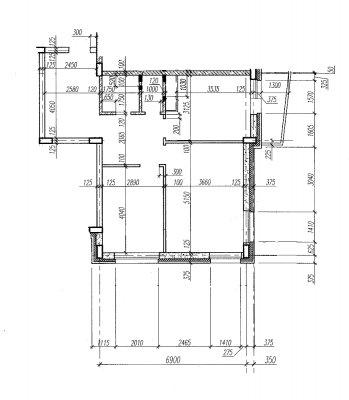 Линейные размеры типового этажа. Планы этажа. Участки - Планировка квартиры.png