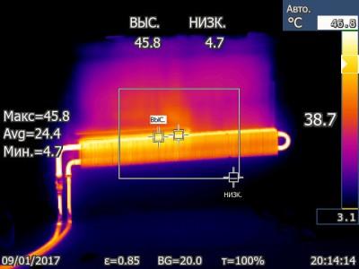 Батарея под правым окном. Наглядное распределение тепла - Батарея под правым окном. Наглядное распределение тепла IR000285.jpg