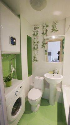 Идеи для дизайна квартир - Для ванной комнаты в студии.jpg