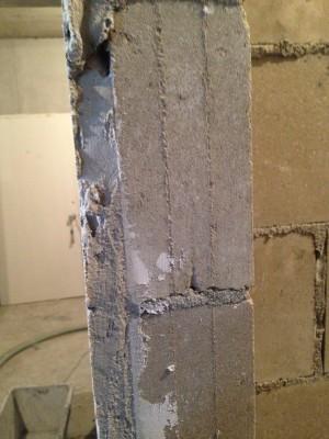 Толщина шпаклёвки на стене со стороны ванной - image.jpeg
